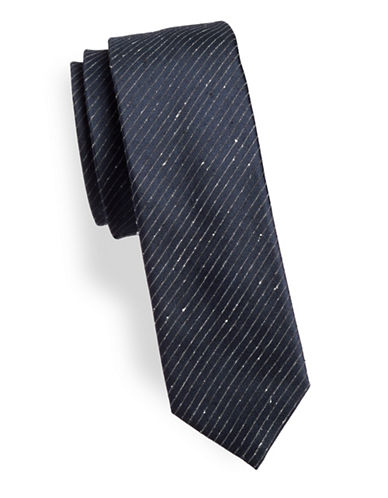 Hugo Pin Stripe Tie-BLUE-One Size
