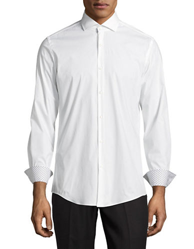 Hugo C-Jery Slim-Fit Stretch Sport Shirt-WHITE-EU 46/US 18