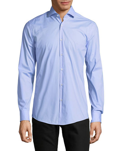 Hugo C-Jery Slim-Fit Stretch Sport Shirt-BLUE-EU 46/US 18