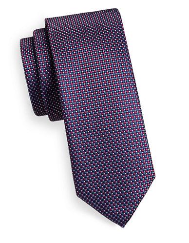 Hugo Dot Array Silk Tie-PINK-One Size