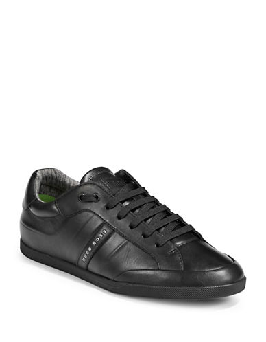 Boss Green Shuttle Leather Sneakers-BLACK-11