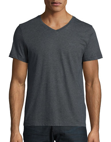 Boss Green Canistro V-Neck T-Shirt-MEDIUM GREY-Large