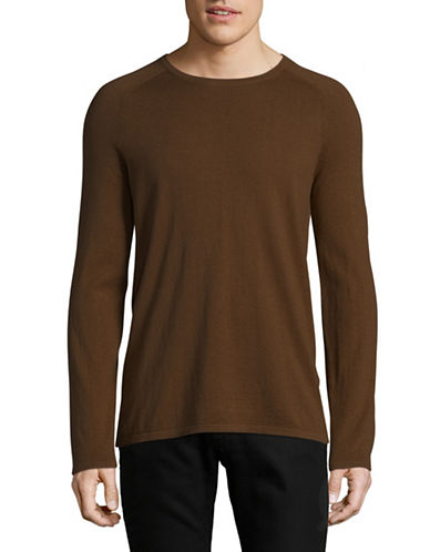 Hugo V-Neck Sweater-BROWN-Large