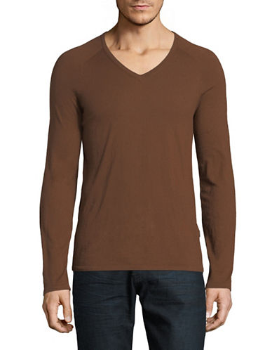 Hugo Cashmere-Blend Long Sleeve Sweater-BROWN-Large