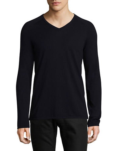 Hugo V-Neck Sweater-NAVY-X-Large