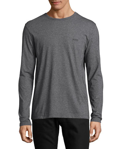 Boss Green Togn Regular-Fit Long Sleeve Logo Tee-GREY-Small