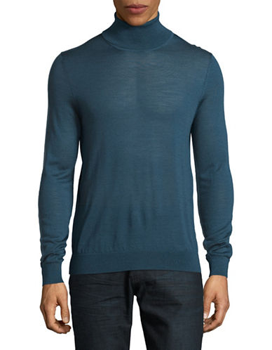 Hugo San Antonio Wool-Blend Turtleneck-BLUE-X-Large