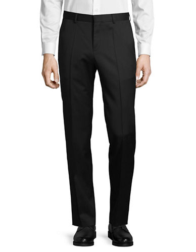 Hugo Virgin Wool Dress Pants-BLACK-42