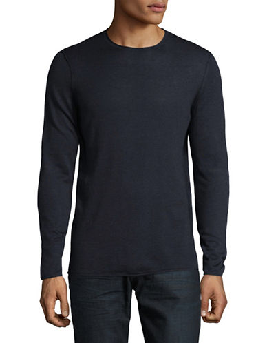 Boss Orange Slim-Fit Long Sleeve T-Shirt-BLUE-X-Large