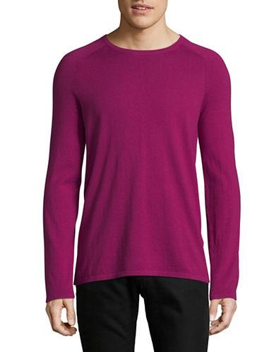 Hugo Raglan Sleeve Sweater-PINK-Small