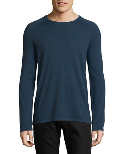 Hugo San Francisco Thin Knit Sweater-BLUE-Large