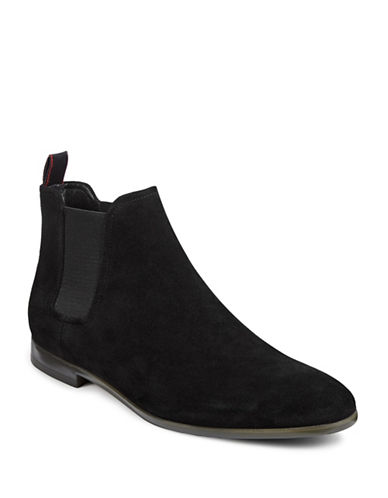 Hugo Pariss Cheb Suede Chelsea Boots-BLACK-8