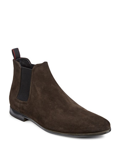 Hugo Pariss Cheb Suede Chelsea Boots-DARK BROWN-11