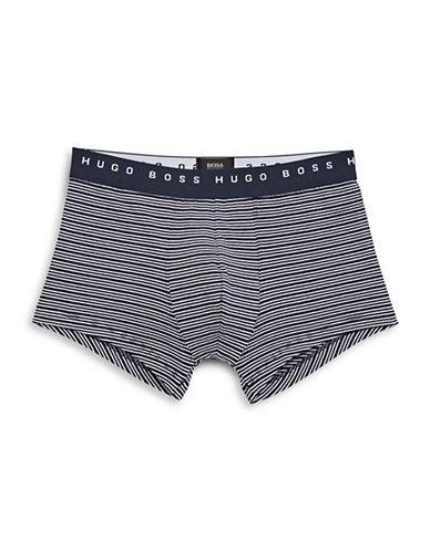 Boss Trunk Stripe Boxer Briefs-MEDIUM BLUE-Large