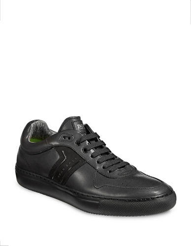 Boss Green Enlighten Leather Sneakers-BLACK-10