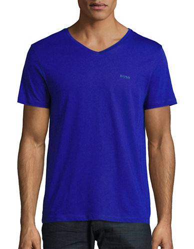Boss Green Canistro V-Neck T-Shirt-DEEP BLUE-XX-Large