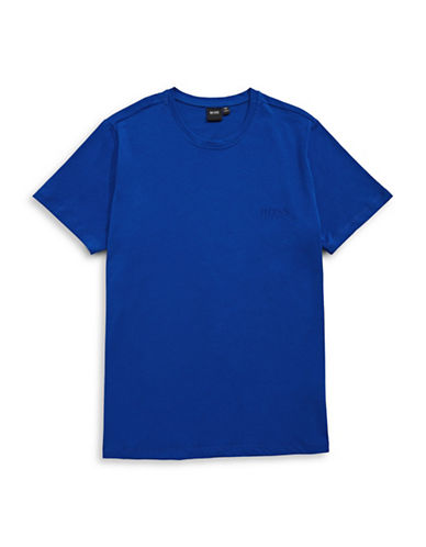 Boss Crew Neck T-Shirt-BLUE-Medium