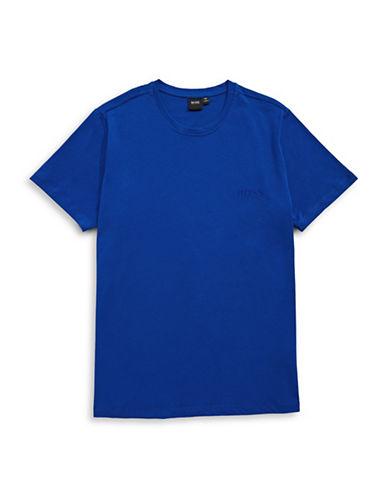 Boss Crew Neck T-Shirt-BLUE-Large