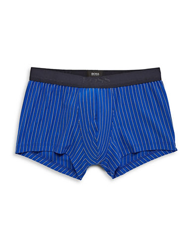Boss Pinstripe Stretch-Fit Trunks-BRIGHT BLUE-Medium