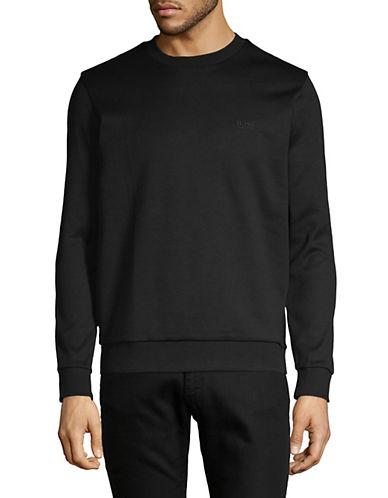 Boss Green Salbo Crew Neck Sweater-BLACK-Large