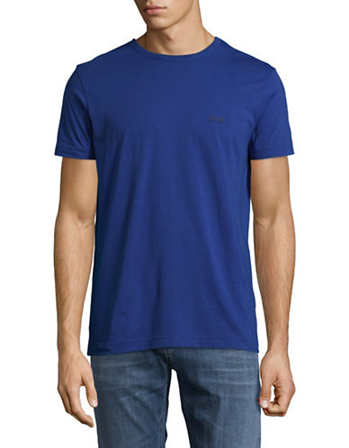 Boss Green Regular-Fit Rubberized Logo Tee-BLUE-XX-Large