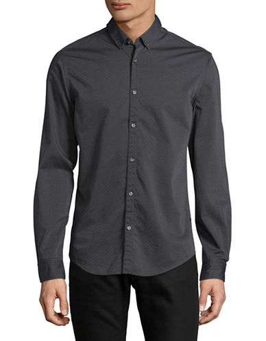 Boss Green Textured Shirt-MEDIUM GREY-Medium
