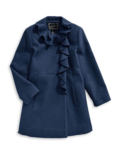 Rothschild Drape Detail Coat-BLUE-2