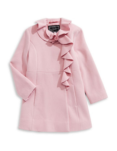 Rothschild Drape Detail Coat-PINK-6