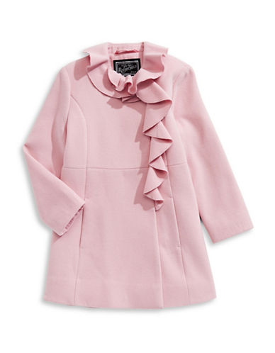 Rothschild Ruffle A-Line Coat-PINK-16