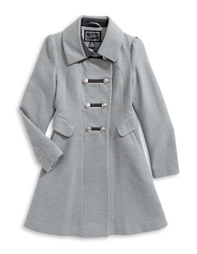 Rothschild Heathered Double-Breasted Coat-GREY-14