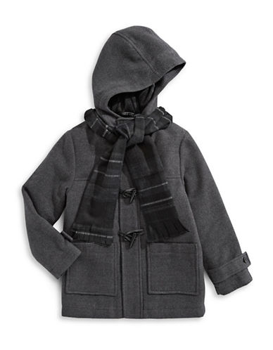 Rothschild Toggle Jacket with Scarf-GREY-5