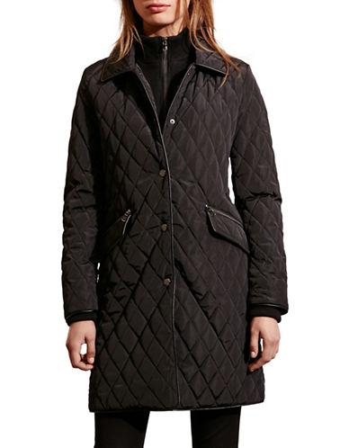 Lauren Ralph Lauren Double Collar Quilt Jacket-BLACK-X-Large 88449142_BLACK_X-Large