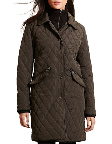 Lauren Ralph Lauren Double Collar Quilt Jacket-GREEN-Medium 88449145_GREEN_Medium