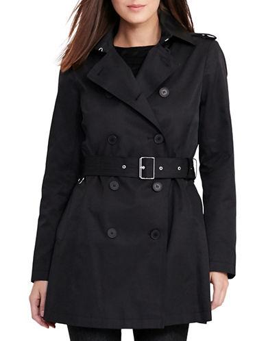 Lauren Ralph Lauren Short Trench Jacket-BLACK-X-Large 88801019_BLACK_X-Large