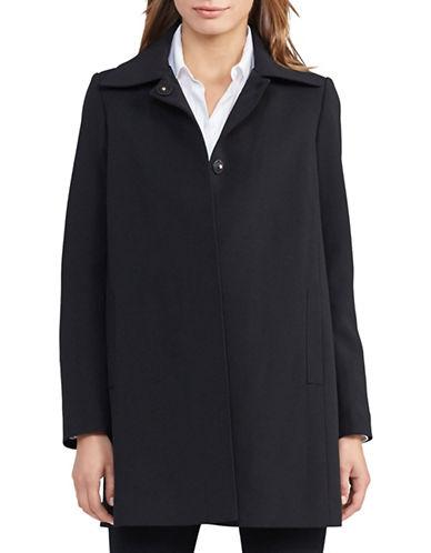 Lauren Ralph Lauren Crepe A-Line Coat-BLACK-X-Small 88801010_BLACK_X-Small