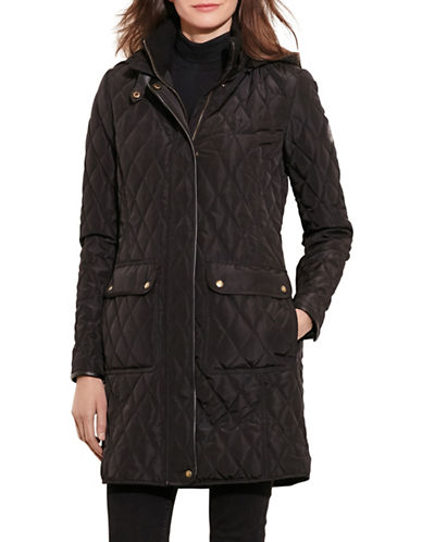 Lauren Ralph Lauren Hooded Jacket-BLACK-Medium