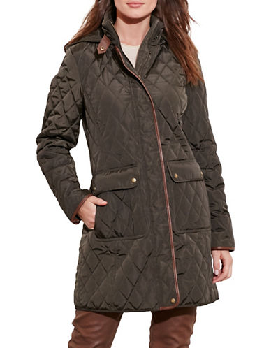 Lauren Ralph Lauren Hooded Jacket-GREEN-Small 89274453_GREEN_Small