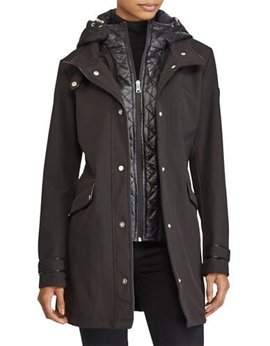 Lauren Ralph Lauren Fleece-Lined Hooded Jacket-BLACK-Medium 89274459_BLACK_Medium