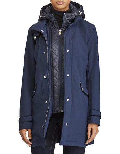 Lauren Ralph Lauren Fleece-Lined Hooded Jacket-NAVY-Small