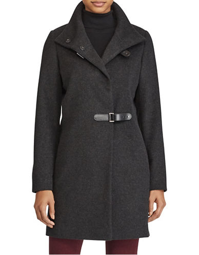 Lauren Ralph Lauren Wool-Blend Mock Neck Coat-CHARCOAL-4