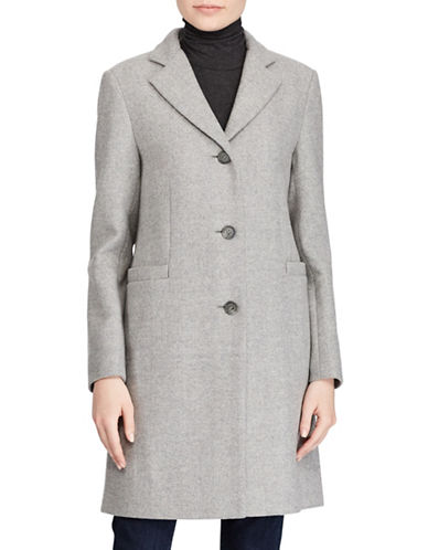 Lauren Ralph Lauren Novelty Reefer Coat-GREY-10