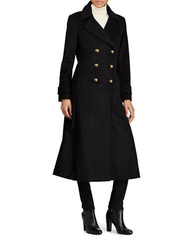 Lauren Ralph Lauren Double-Breasted Wool-Blend Coat-BLACK-2