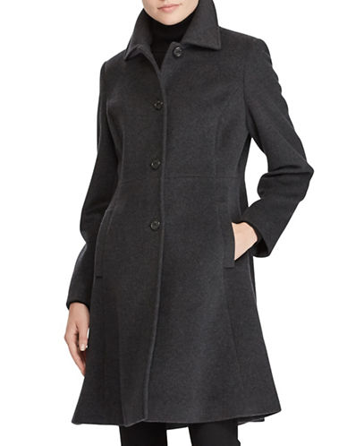 Lauren Ralph Lauren Skirted Coat-CHARCOAL-4