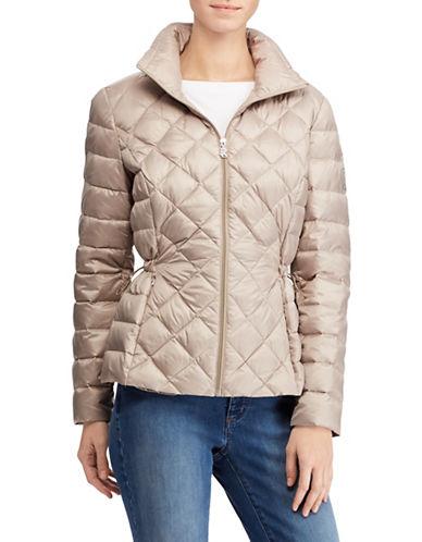 Lauren Ralph Lauren Packable Quilted Down Jacket-BEIGE-Medium