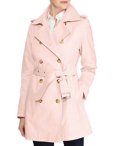Lauren Ralph Lauren Short Trench Jacket-BLUSH-X-Small