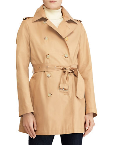 Lauren Ralph Lauren Short Trench Jacket-BEIGE-Large
