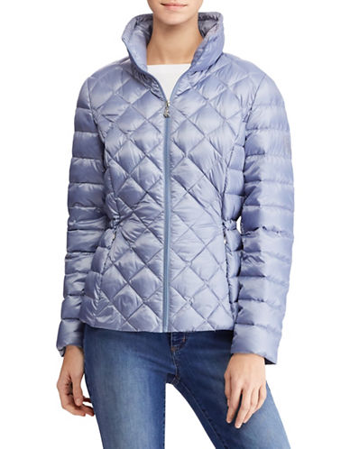 Lauren Ralph Lauren Packable Quilted Down Jacket-BLUE-Small