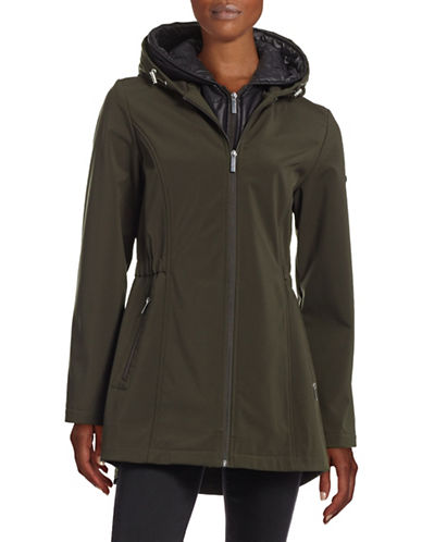 French Connection The Coat Edit Hooded Soft Shell Zip Gilet Jacket-GREEN-Medium 88393781_GREEN_Medium