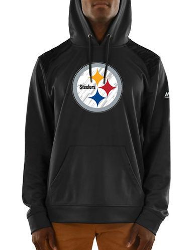Majestic Pittsburgh Steelers Hoodie-BLACK-Medium 89596964_BLACK_Medium
