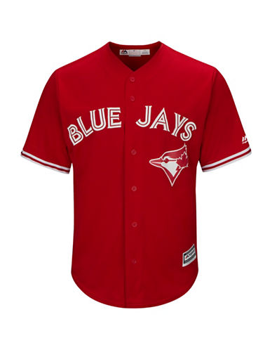 Majestic MLB Toronto Blue Jays Replica Alternate Jersey-RED-Large